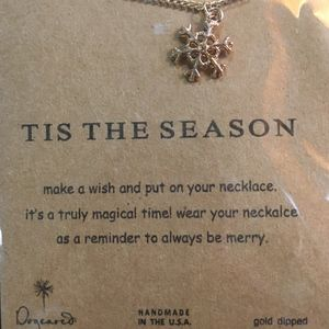"""Dogeared """"TIS THE SEASON"""" Necklace, GOLD"""